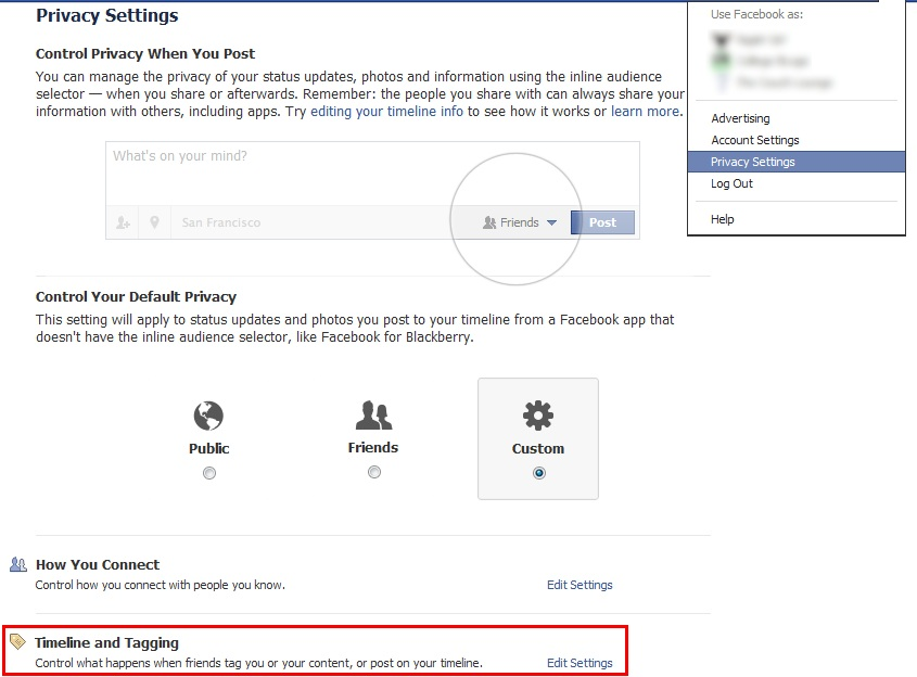 controlling tagged posts in facebook