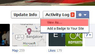 Fb view as drop down