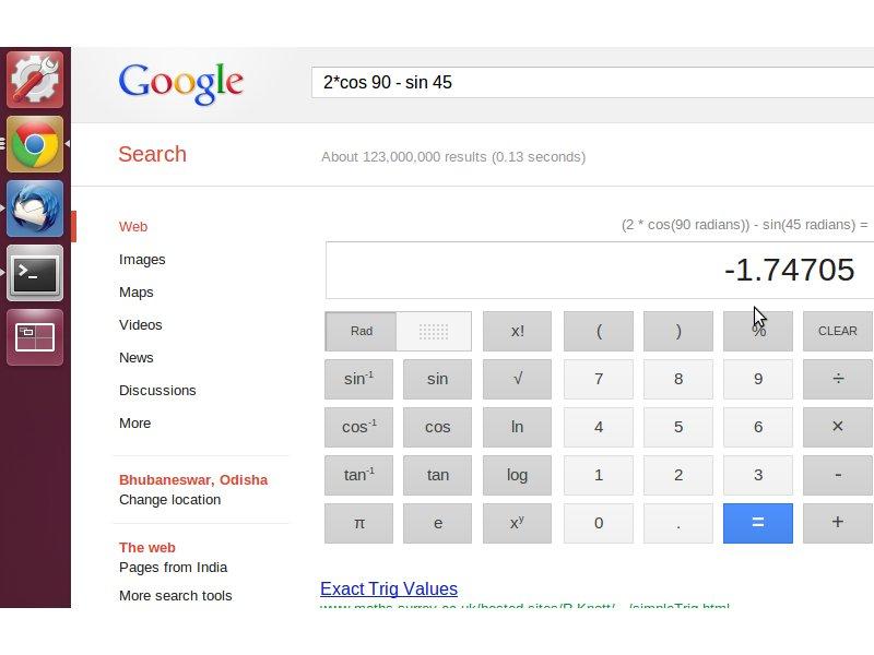 Calculate in Google