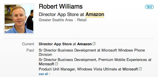 Amazon Grabs Windows Phone Director Aboard
