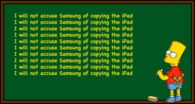 bart simpson samsung copy ipad Apple Forced By Judge To Run Newspaper Ads Stating Samsung Does Not Copy iPad