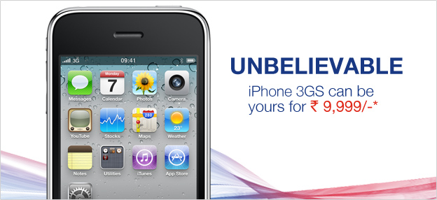 Apple iPhone 3GS now available for Rs. 9,999