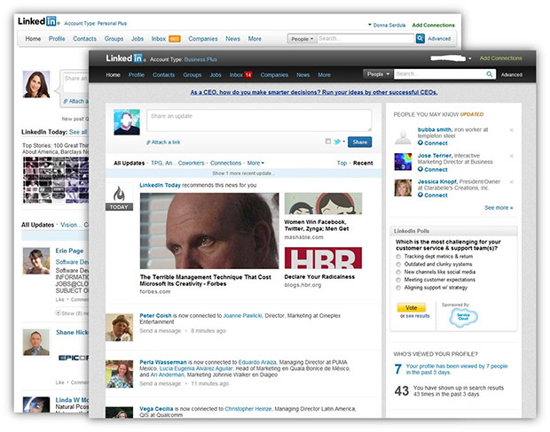 LinkedIn Makes Homepage More Like Facebook, Google+
