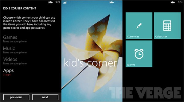 Windows Phone 8 to Include Kid's Corner, a Separate Start Screen for Parental Control