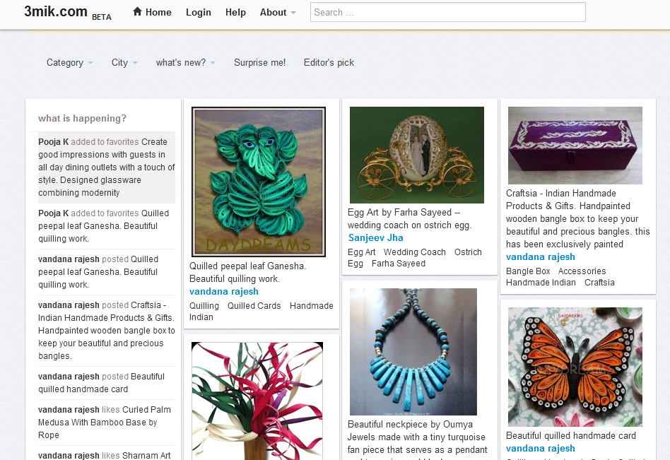 3mik - An On-line Platform for Sharing and Discovering Shopping Items