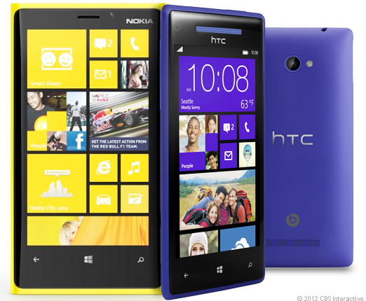 HTC Windows Phone 8X vs. Nokia Lumia 920: Specs and More