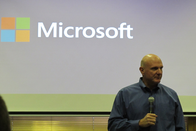 Steve Ballmer at Microsoft Event