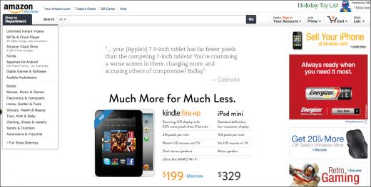 Amazon-website-apple-mock