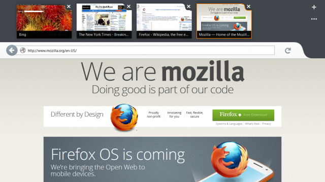 Mozilla's First Preview Release Of Firefox Metro Arrives On Windows 8
