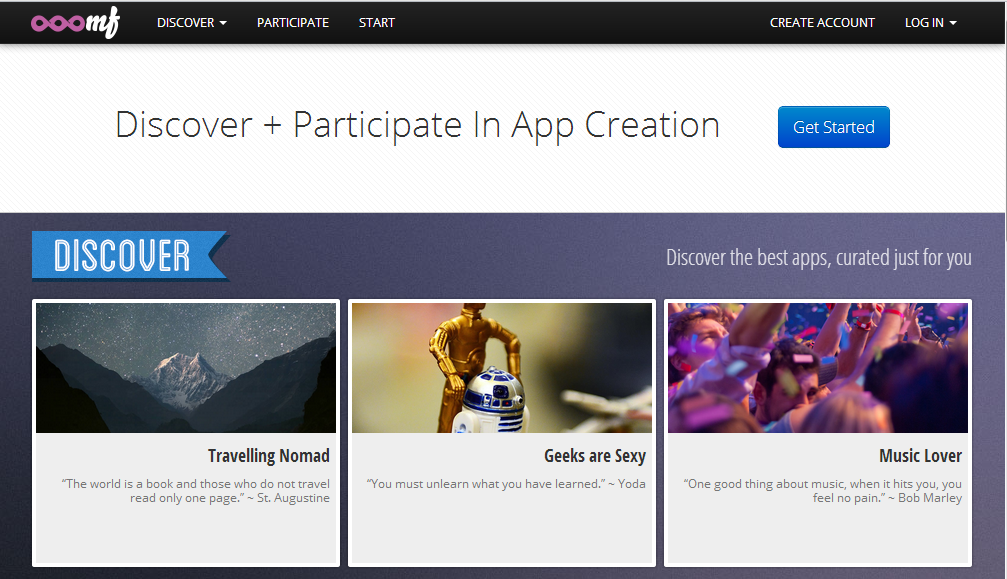 Discover and Participate in App Creation With Ooomh
