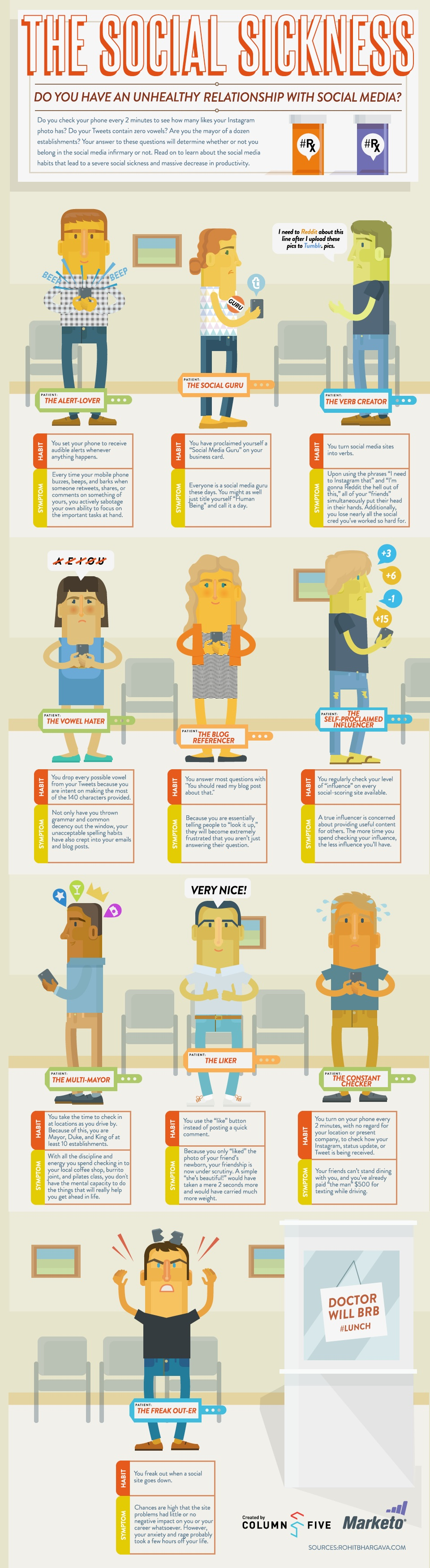 socialaddictsIG The 10 Types of Social Media Addicts [INFOGRAPHIC]