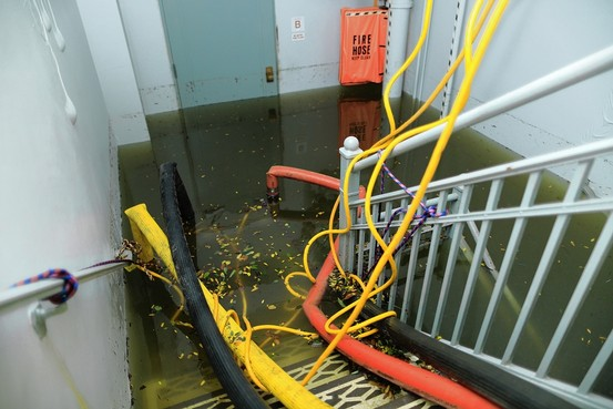 A Look Inside Verizon's Flooded Communications Hub