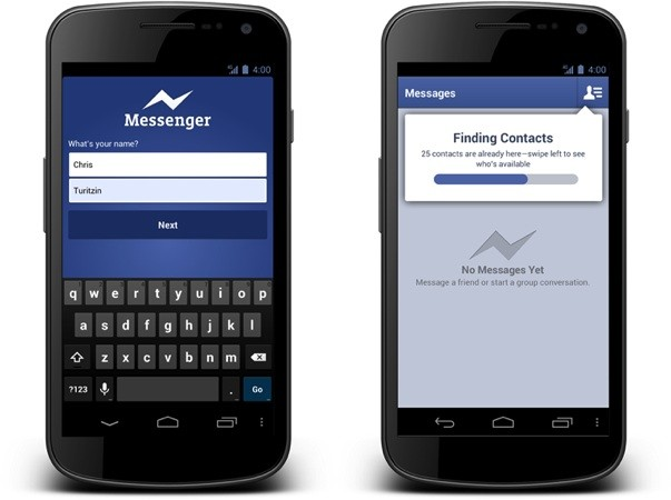 Facebook launches new mobile messaging app