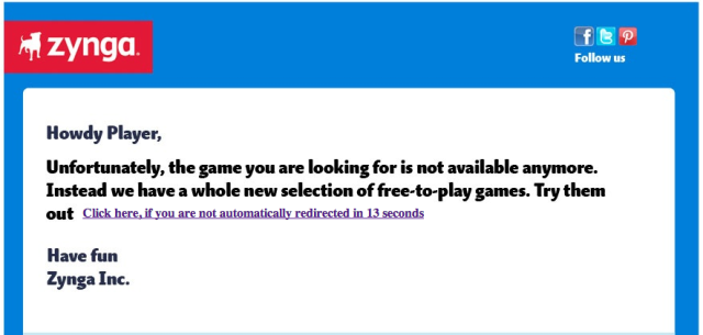 zynga shut down notice Game Over: Zynga Shuts Down PetVille And 10 Other Titles To Cut Costs
