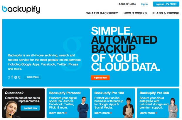 Backup Your Online Personal Data With Backupify