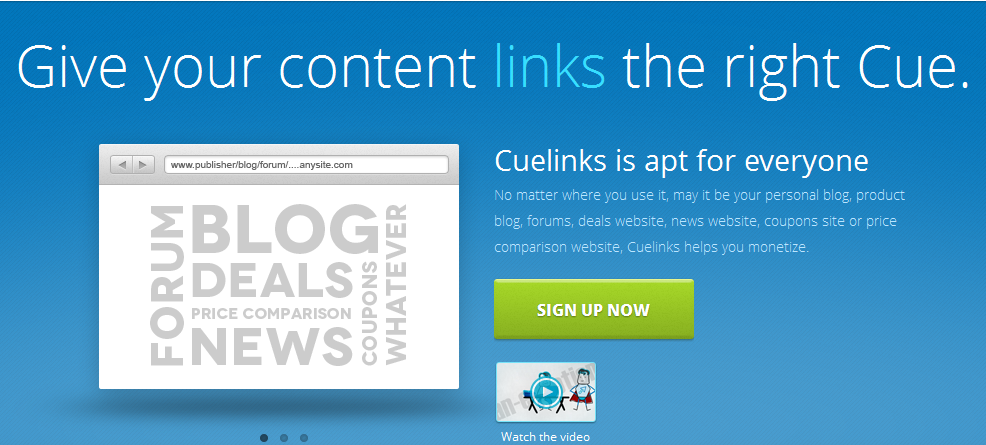 CueLinks - Effective Content Monetization for Indian Publishers