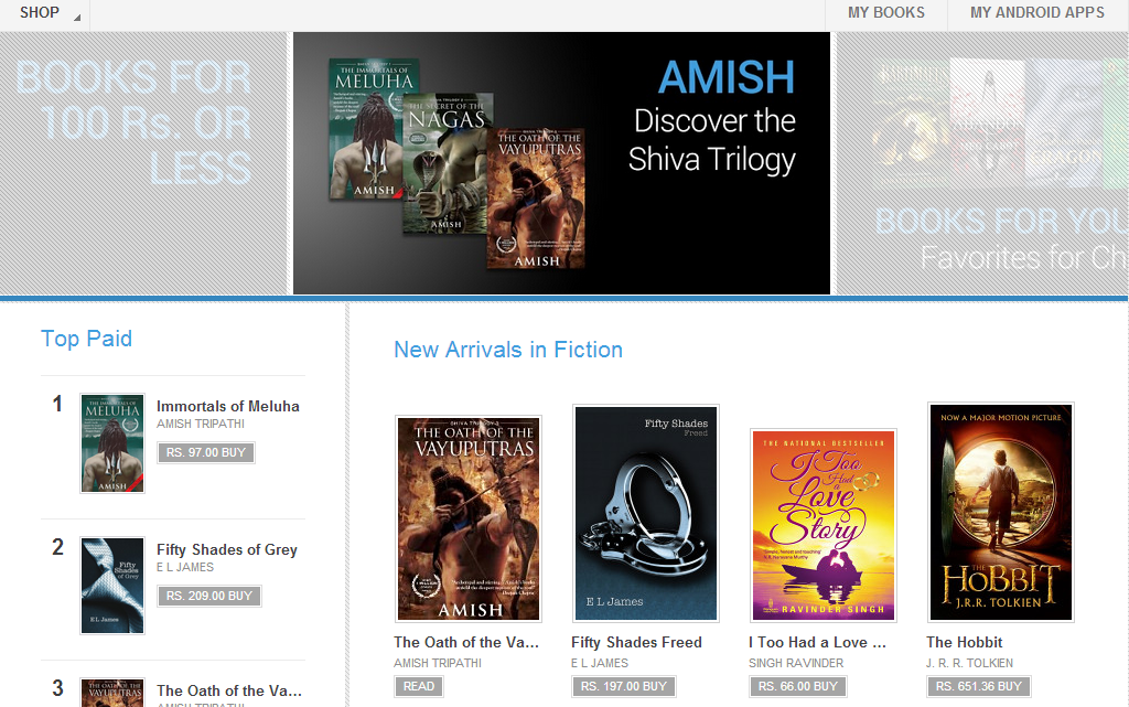 Google Play store Google finally launches eBooks in the Google Play (India) store