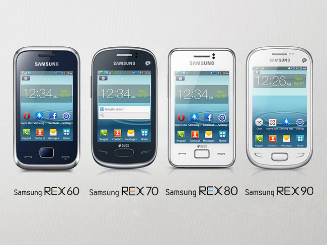 Samsung Introduces Rex Handset Line to Challenge Nokia's Asha