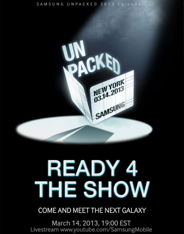 Samsung Galaxy S IV announcement on March 14