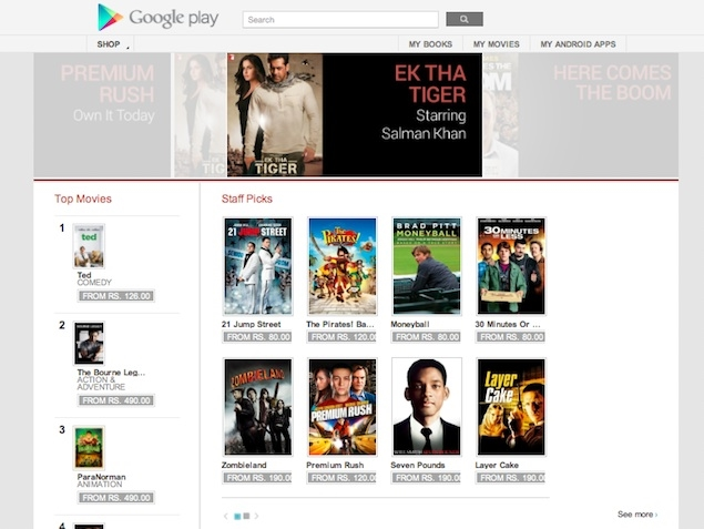 Google Play Movies After Nexus 7, Google Movies Also Comes to India