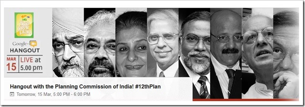 Google+ Hangout With Indian Policy Makers