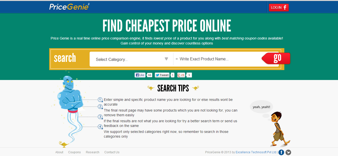 PriceGenie - Online Shopping Made Easy