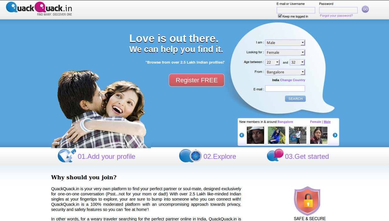 Free online dating service in india