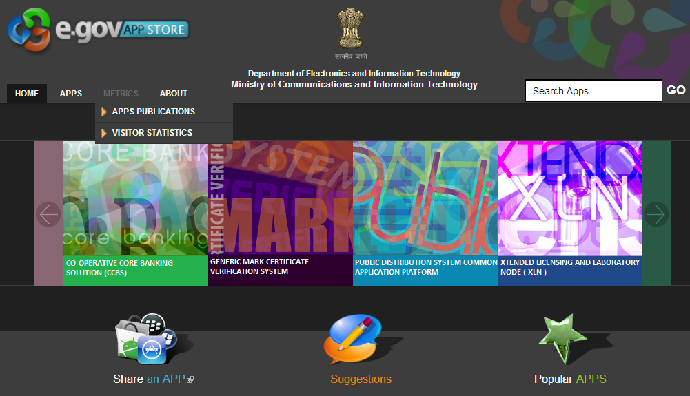 Government of India Launches E-Gov App Store