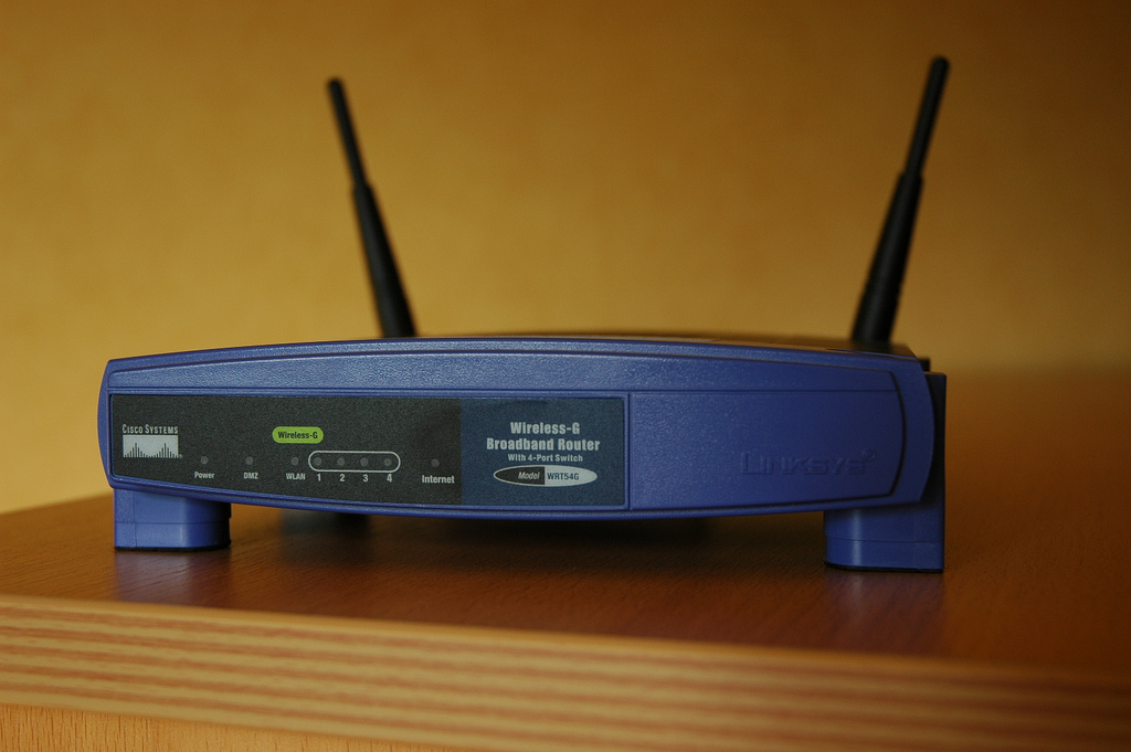 how to set router password