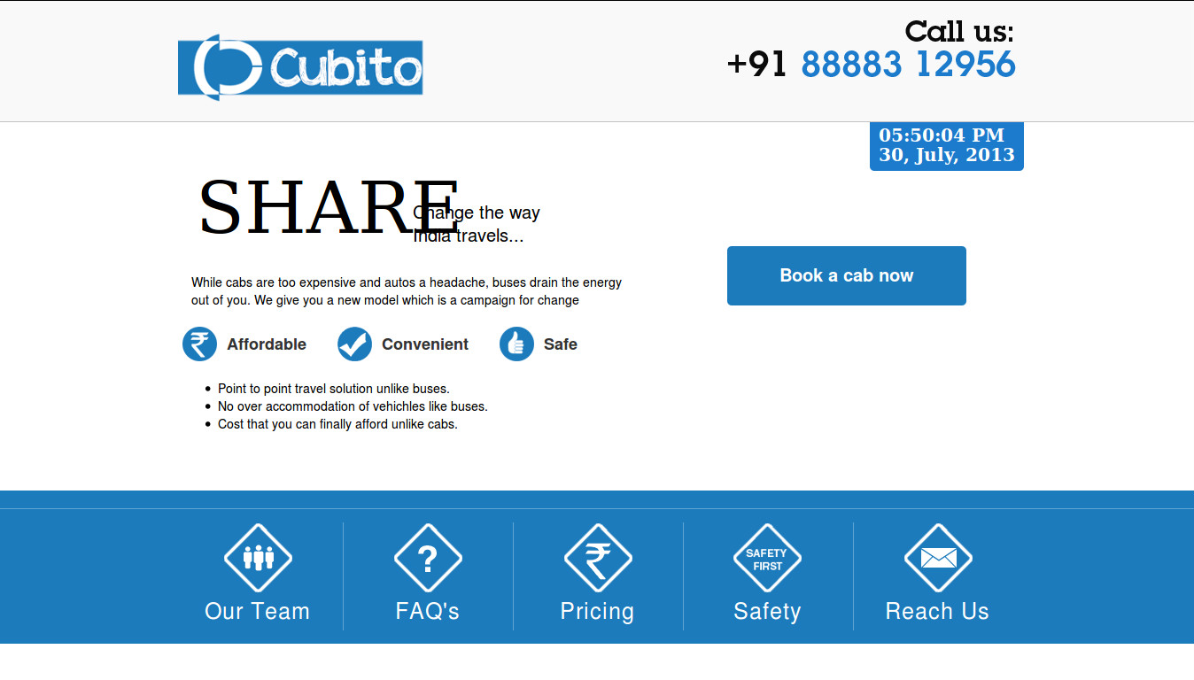 Cubito.in Shared Cab Services from Bangalore raises under Rs 59 Lakhs in angel funding
