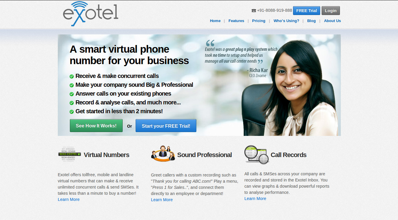 Exotel - The Unique Virtual Solution to Managing Multiple Inbound Calls and Messages