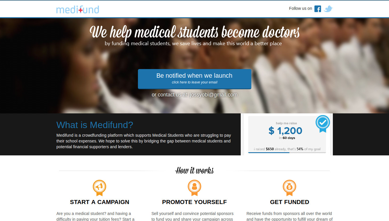 Medifund provides Support to Medical Students to help Pay their Expenses