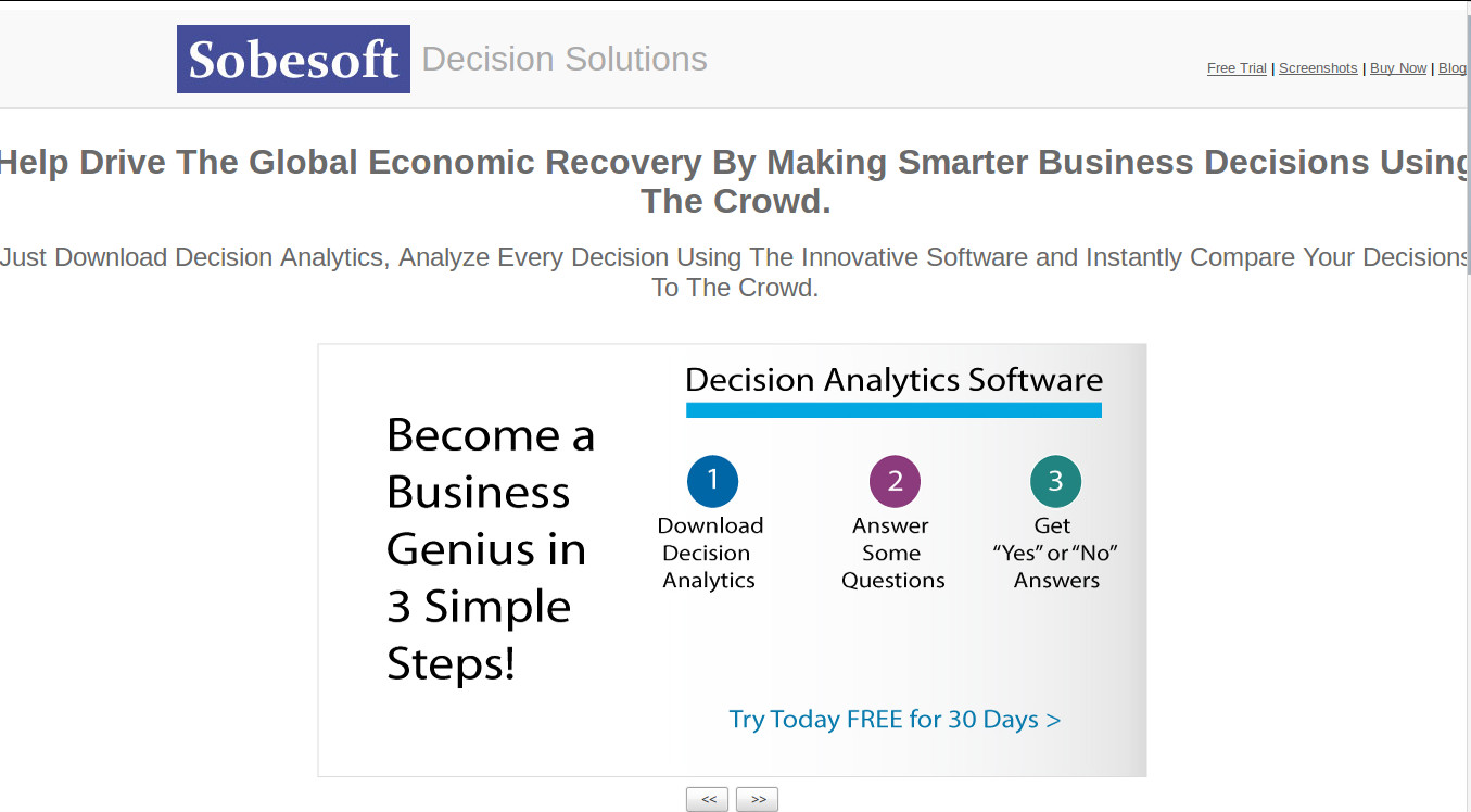 Sobesoft - Make Smarter decisions by Comparing to the Crowd's