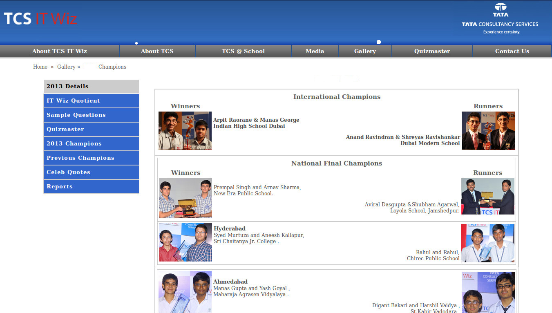 TCS IT Wiz is looking for its 2013's batch of School Whiz Kids