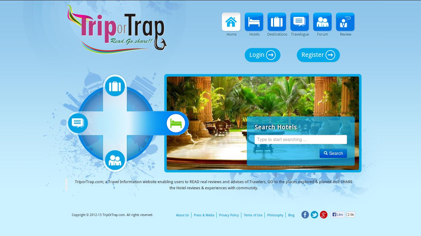 TripOrTrap - Make sure you Travel Right