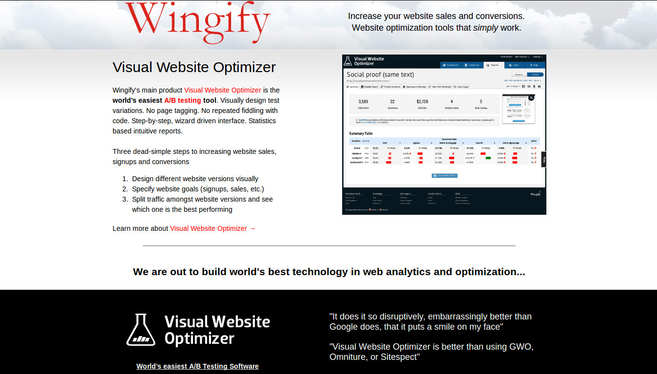 Wingify - The Worlds Easiest A/B Testing Tool