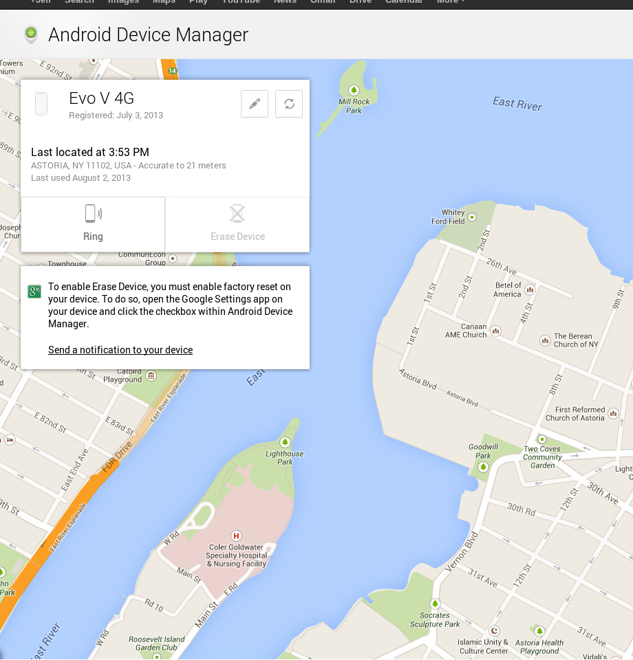 Google's Android Device Manager is Live: You can Locate & Wipe your Stolen or Lost Phone