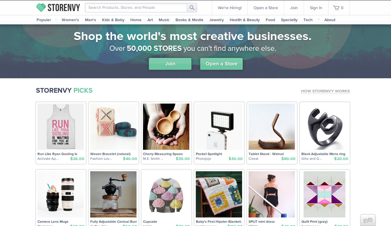 Storenvy - The Marketplace for Uncanny Cool Stuffs crossed 1 Million Users
