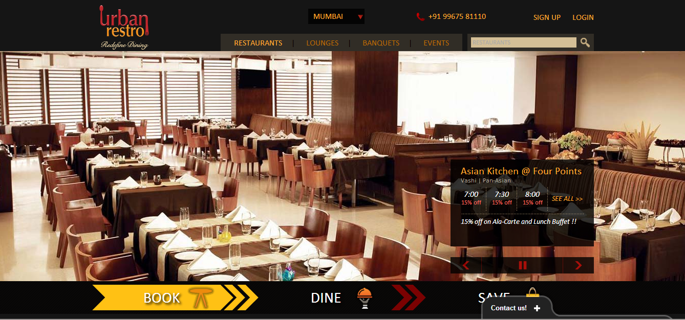 UrbanRestro - Get Online Table Reservations in Upscale Restaurants and Much More!
