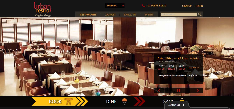 Urbanrestro homepage
