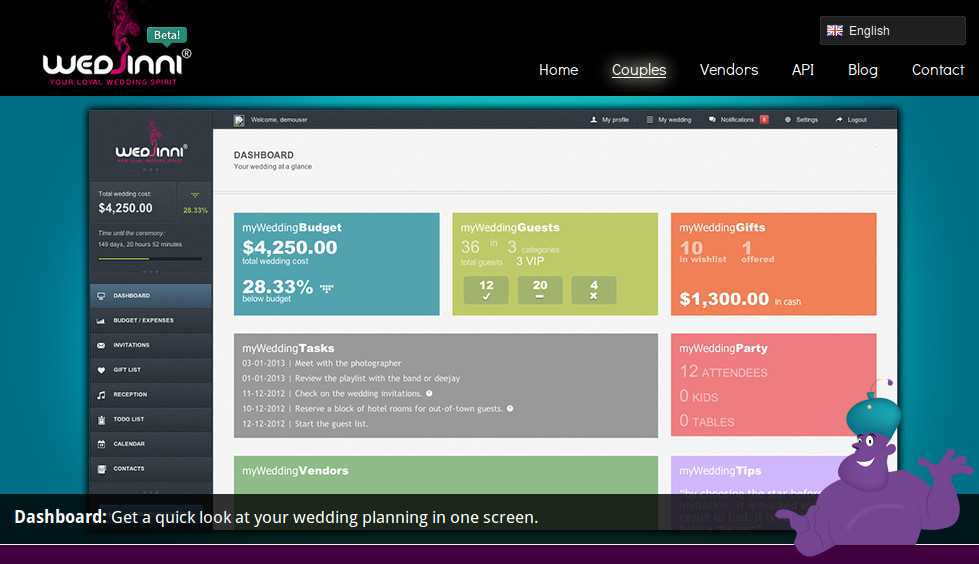 WedJinni.com - Planning a Wedding need not be a Chaos
