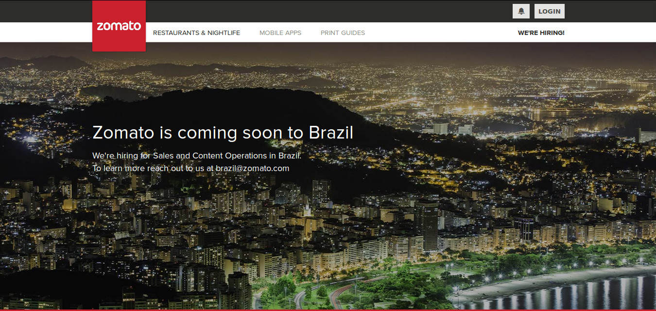 Zomato about to enter Brazil and will then fly towards UAE