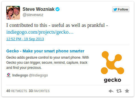 gecko steve wozniak 2 Gecko from Bangalore is up on IndieGoGo and it needs your Support