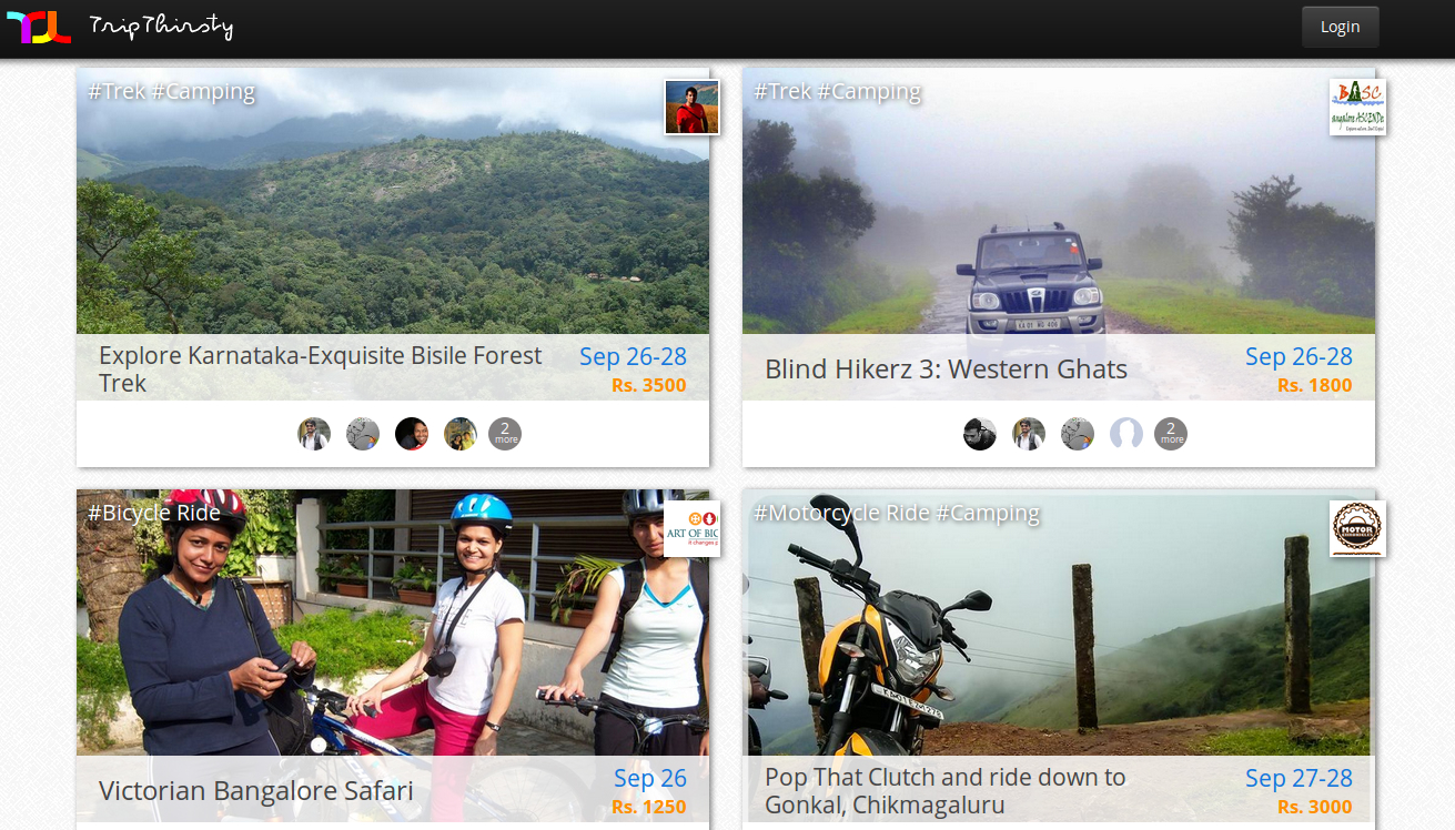 TripThirsty - TripAdvisor for Adventure Experiences