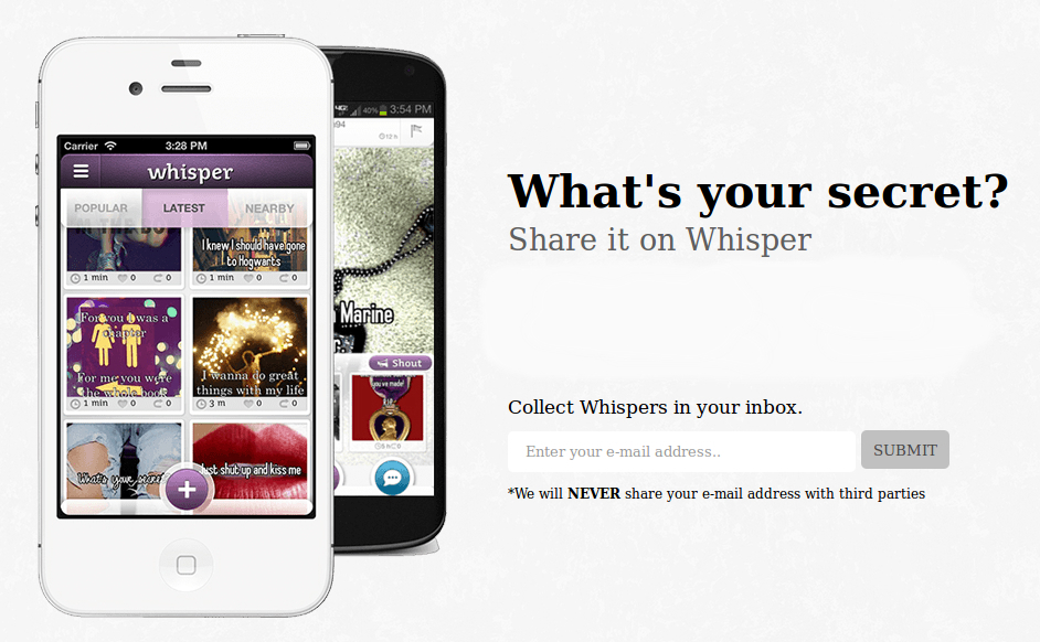 whisper 3 Secret Sharing App Whisper Raises $21 Million from Sequoia Capital