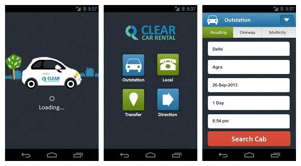 Clear Car Rental Launches It S Android App And Car Rental Api