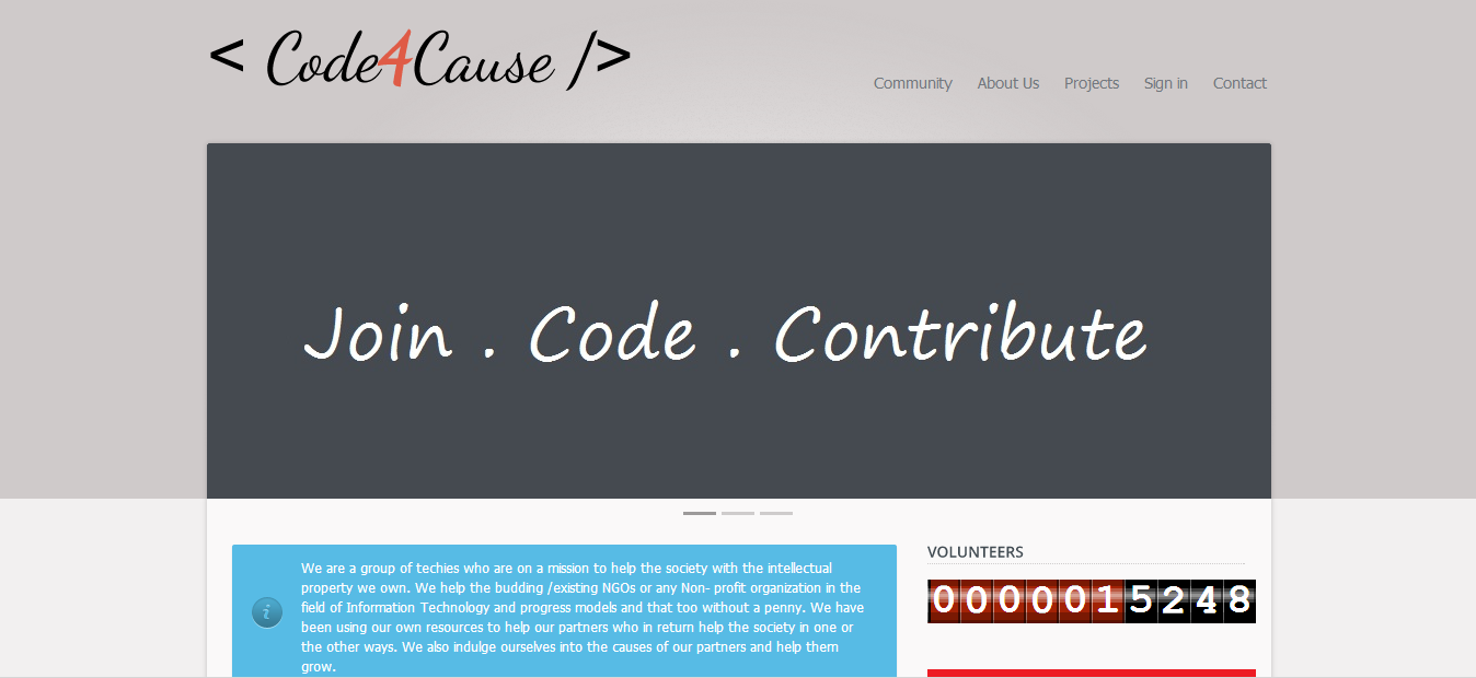 Helping Those Who Help : The Story of Code4Cause and Arun Rajiah
