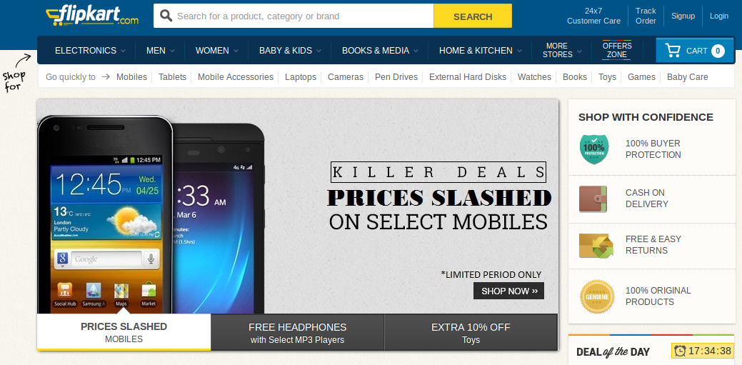 Flipkart Raises $160 Million From Morgan Stanley and Others
