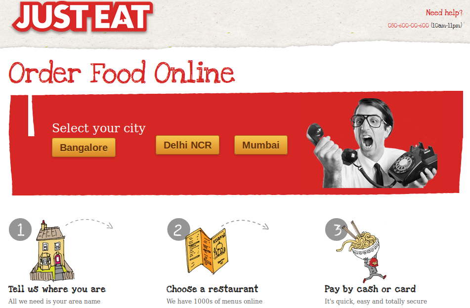 justeat 2 5 competing Food Network Startups