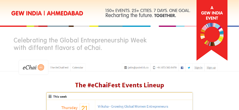 eChaiFest #eChaiFest : Celebrating Global Entrepreneurship Week at Ahmedabad
